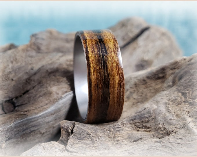 Bentwood Ring - Bocote on titanium ring core