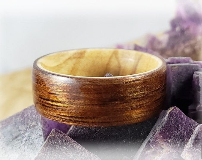 Shop Special! Bentwood Ring - Mango on Olivewood ring core
