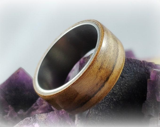 Bentwood Ring - Sweetgum - titanium ring core.