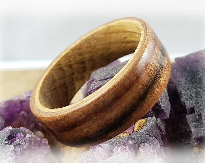 Bentwood Ring - Tineo (Indian Apple) on Whisky Barrel ring core