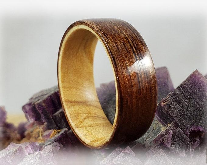 Bentwood Ring - Mango on Olivewood ring core