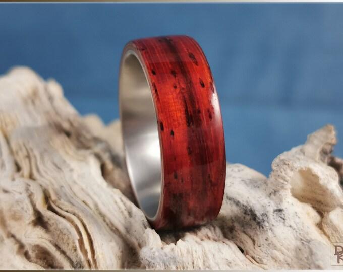 Bentwood Ring - Candy Stripe Padauk on titanium core