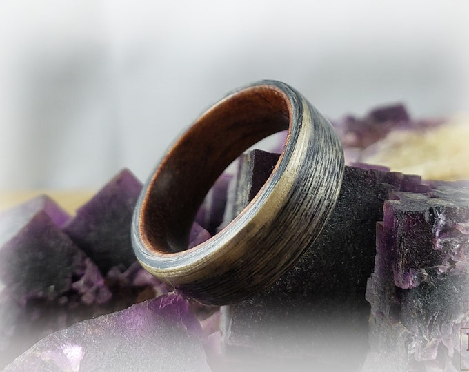 Bentwood Ring - Harborica - Rosewood ring core.