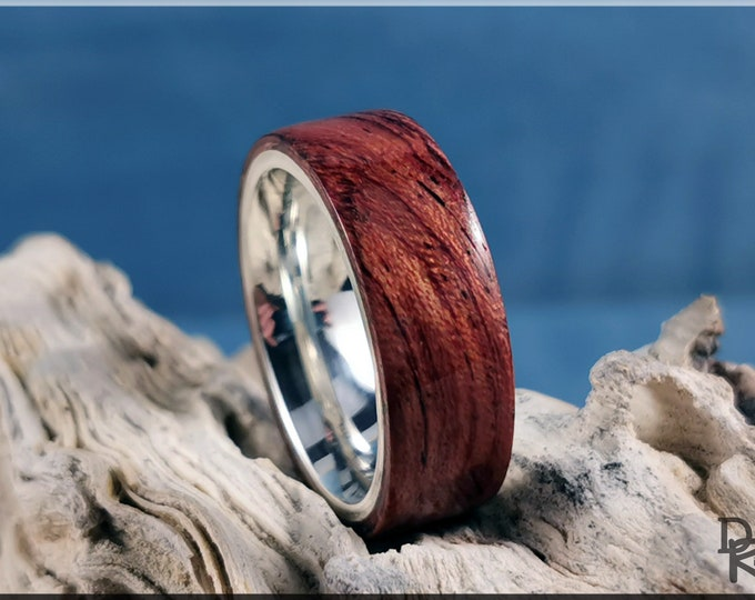 Bentwood Ring - Waterfall Bubinga on Premium .925 Sterling Silver ring core