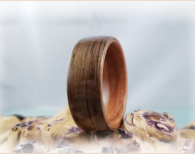 Bentwood Ring - Black Walnut on custom Bentwood Plumwood ring core