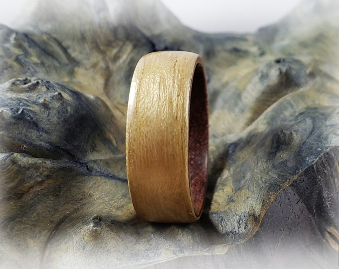 Bentwood Ring - Black Locust on Rosewood ring core