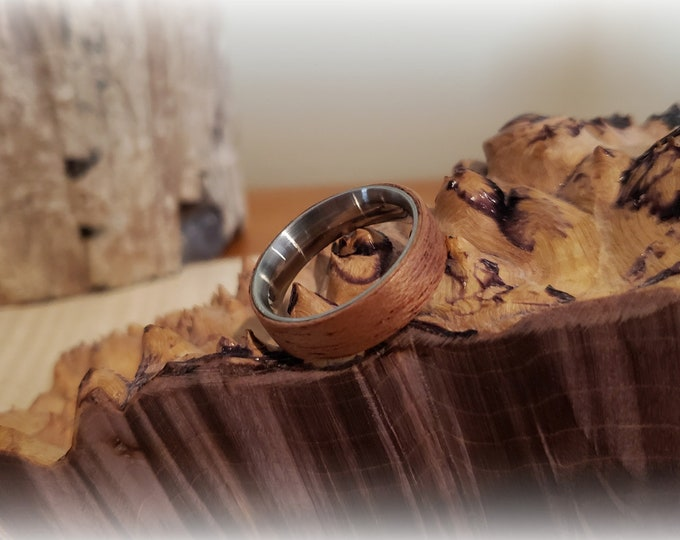 Bentwood Ring - Okoume on titanium ring core
