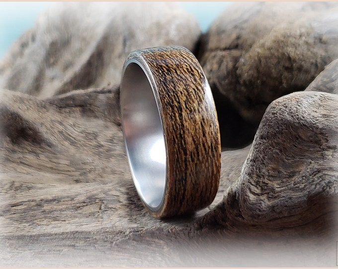 Bentwood Ring - Louro Preto on titanium ring core