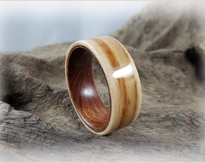 Bentwood Ring - American Sweetgum on Ironwood core