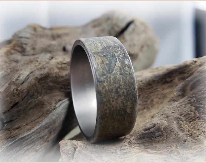 Artisan Ring - Genuine 'Irish Mist' Slate on titanium ring core
