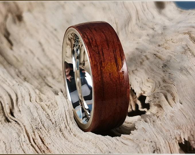 Bentwood Ring - Honduran Mahogany on premium .925 Sterling Silver ring core