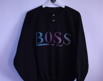 444f97dbc Vintage 90s Hugo Boss Spell Out American Crewneck Sweatshirt good vintage  condition