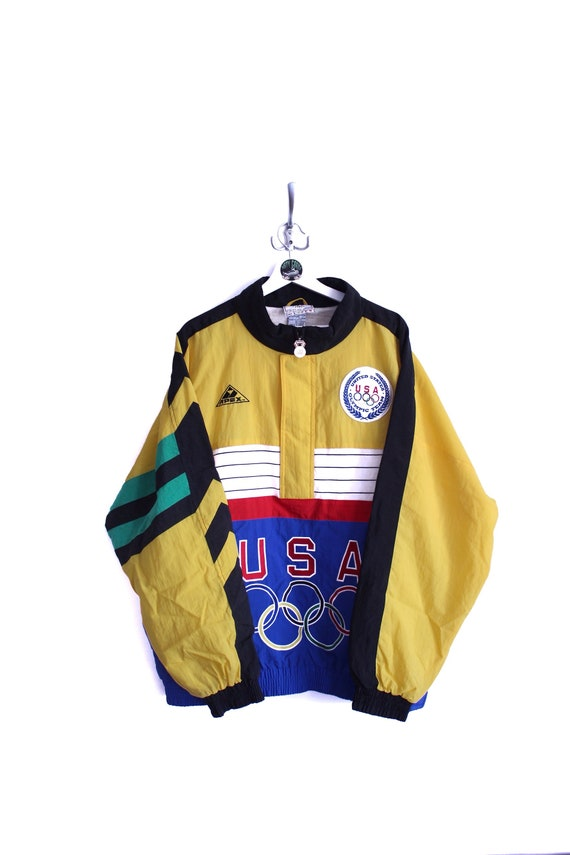 Vintage Apex One x USA Olympic Pullover Jacket 90s