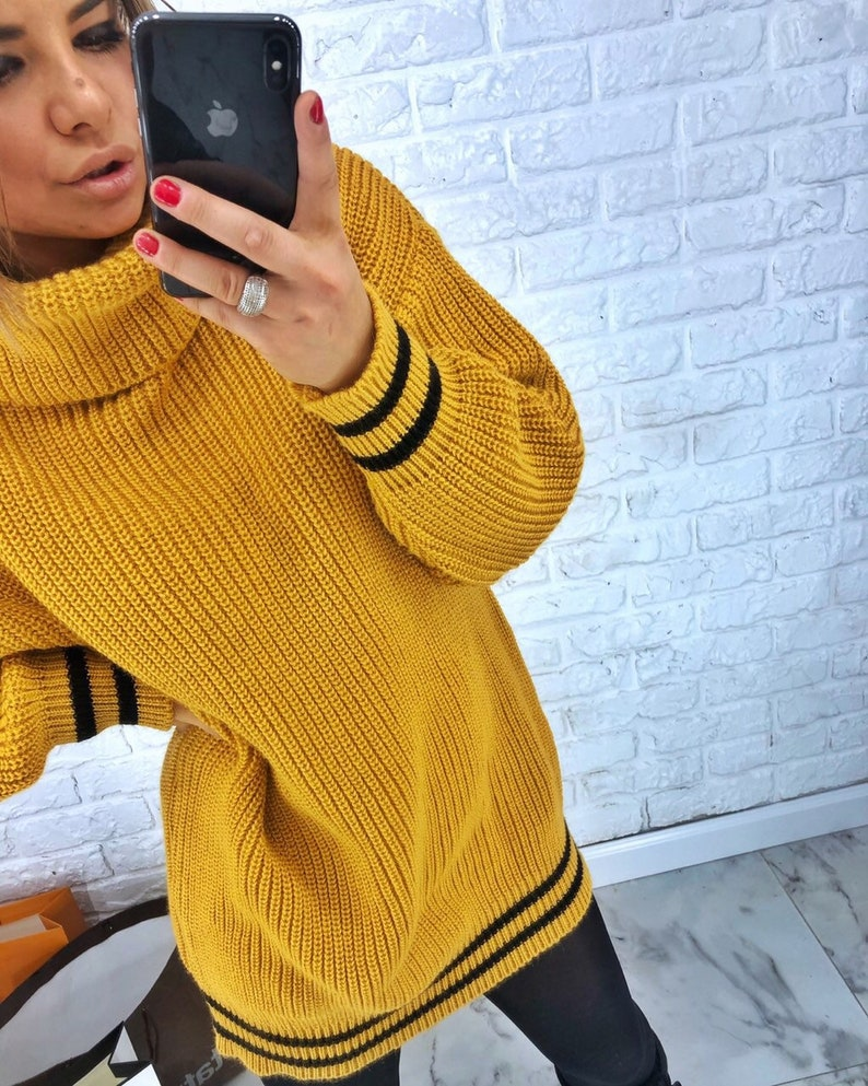 Sweater sweaters women sweater  pullover  woman pullover  winter sweater  jersey  slop-on  slip-over  yellow sweater
