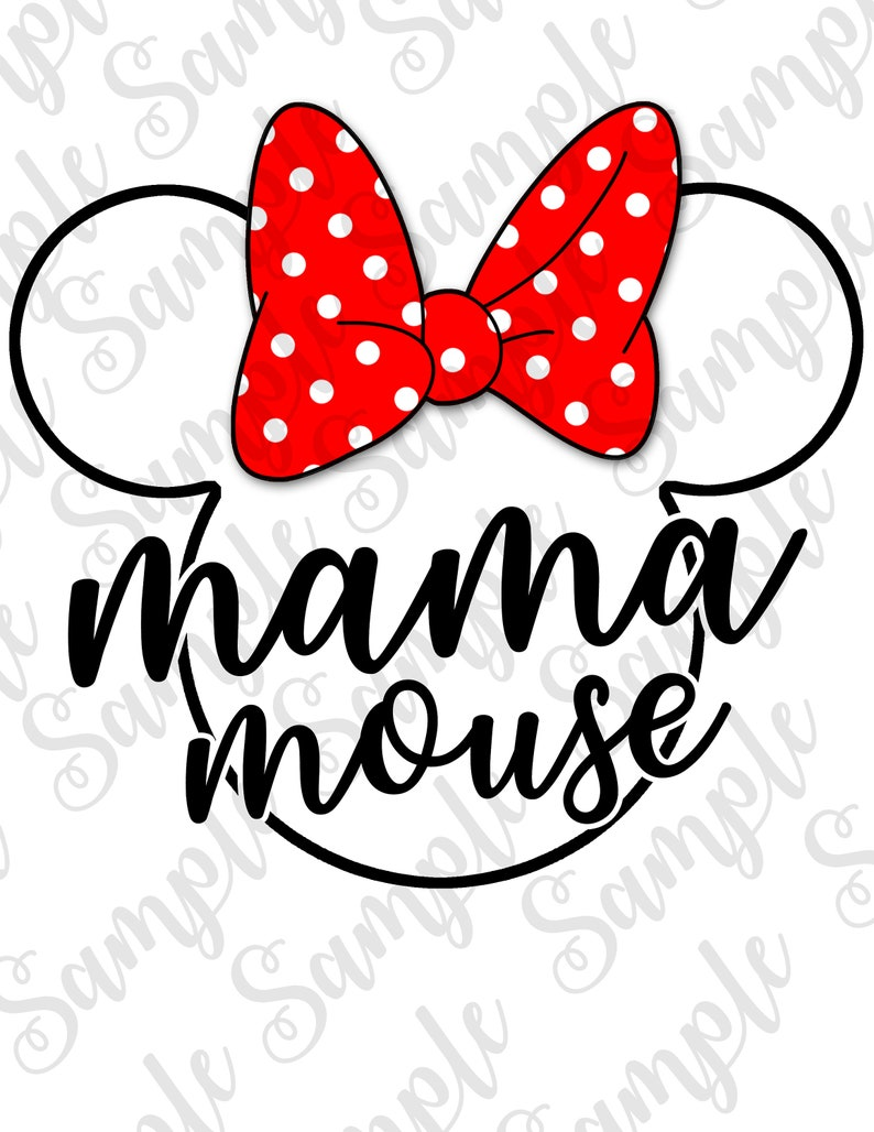 Disney SVG Mama Mouse Mickey Head Trip to Disney Custom digital download Matching Family shirt Iron on transfer Printable SVG Birthday shirt