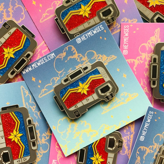 Captain Marvel Pager Pin