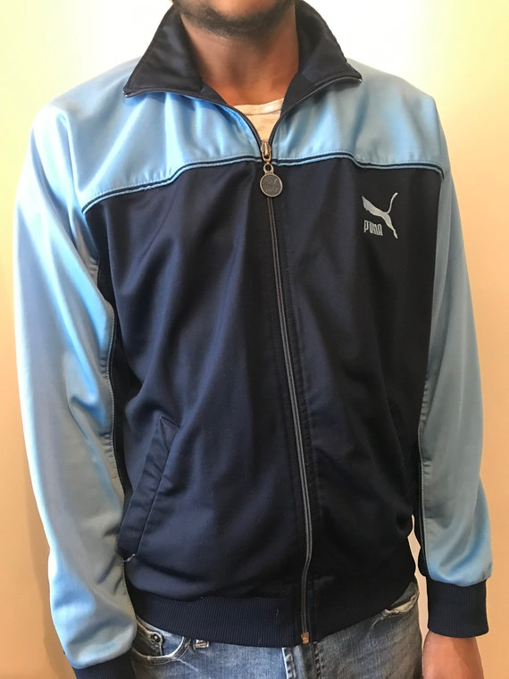 PUMA 1980s Colorblock polyester Track Jacket gym s