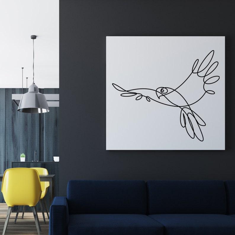 Printable art Parrot Digital Jpeg AI Svg Png Eps Pdf Wall decor one line drawing minimalist