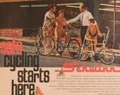 Vintage Schwinn Bicycles Magazine Ad - 1960s Bicycle Ad - Vintage Magazine Ads - Vintage Schwinn Ad