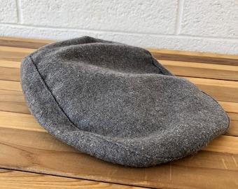 620e4ed8 Vintage Gray Paperboy Hat, 1970s Vintage Flat Cap, 1970s Brown Paper Boy  Flat Hat, Vintage Newsboy Hat
