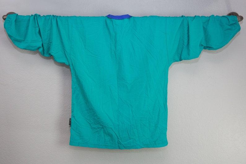 Windbreaker Sportswear 90s Retro Blue Zipper Jacket Vintage 90s Blue Stingray Windbreaker Swim Cover Retro Jacket Large