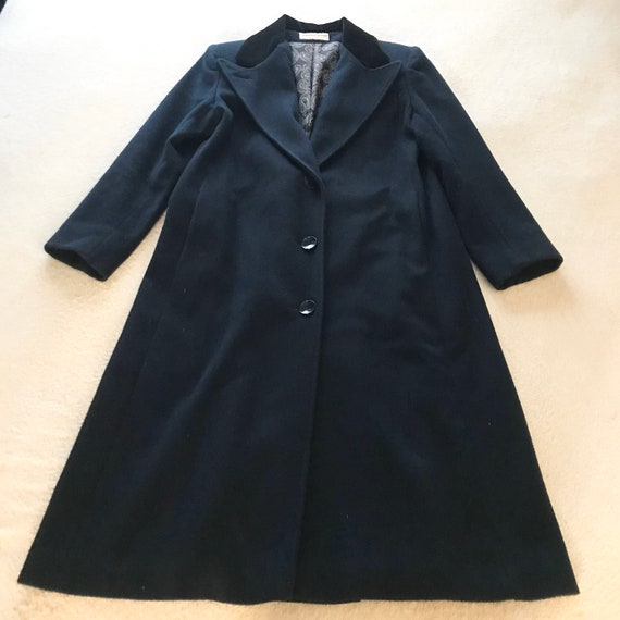 Jonathan Michael Wool Coat / Trench Coat Navy Blue