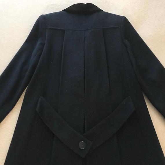 Jonathan Michael Wool Coat / Trench Coat Navy Blue - image 5
