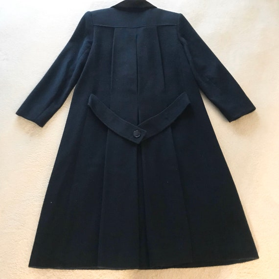 Jonathan Michael Wool Coat / Trench Coat Navy Blue - image 4