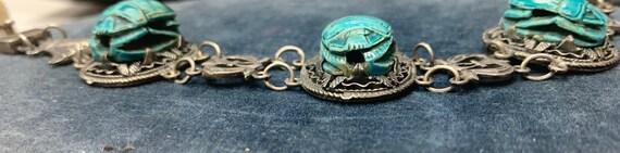 Egyptian Revival Scarab Bracelet