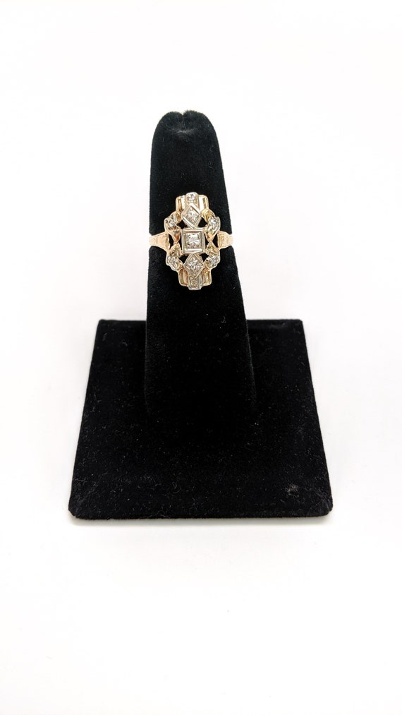Art Nouveau Diamond Ring - image 3