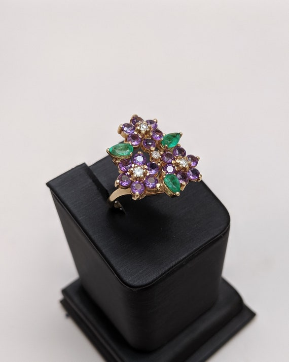 Floral Gemstone Ring