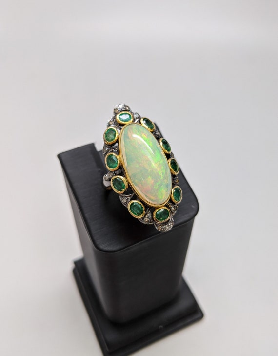 Victorian Opal and Emerald Ring