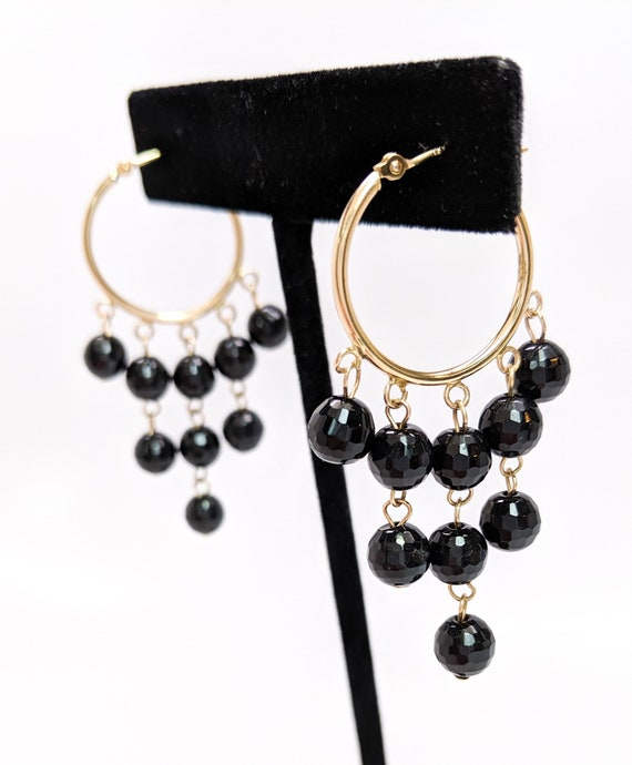 Onyx Chandelier Earrings