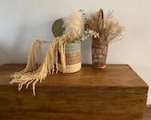 Palm leaf Storage Basket Bathroom Storage Magazine Rack Bathroom Decor Rustic Sewing Basket Basket with Lid