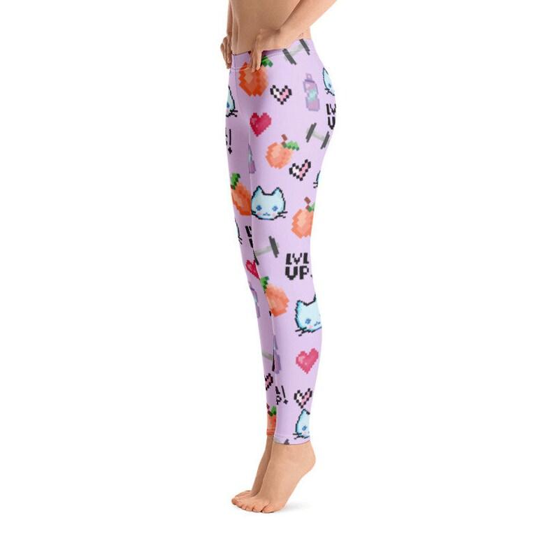Peach Butt Workout leggings Pixel Cat Leggings