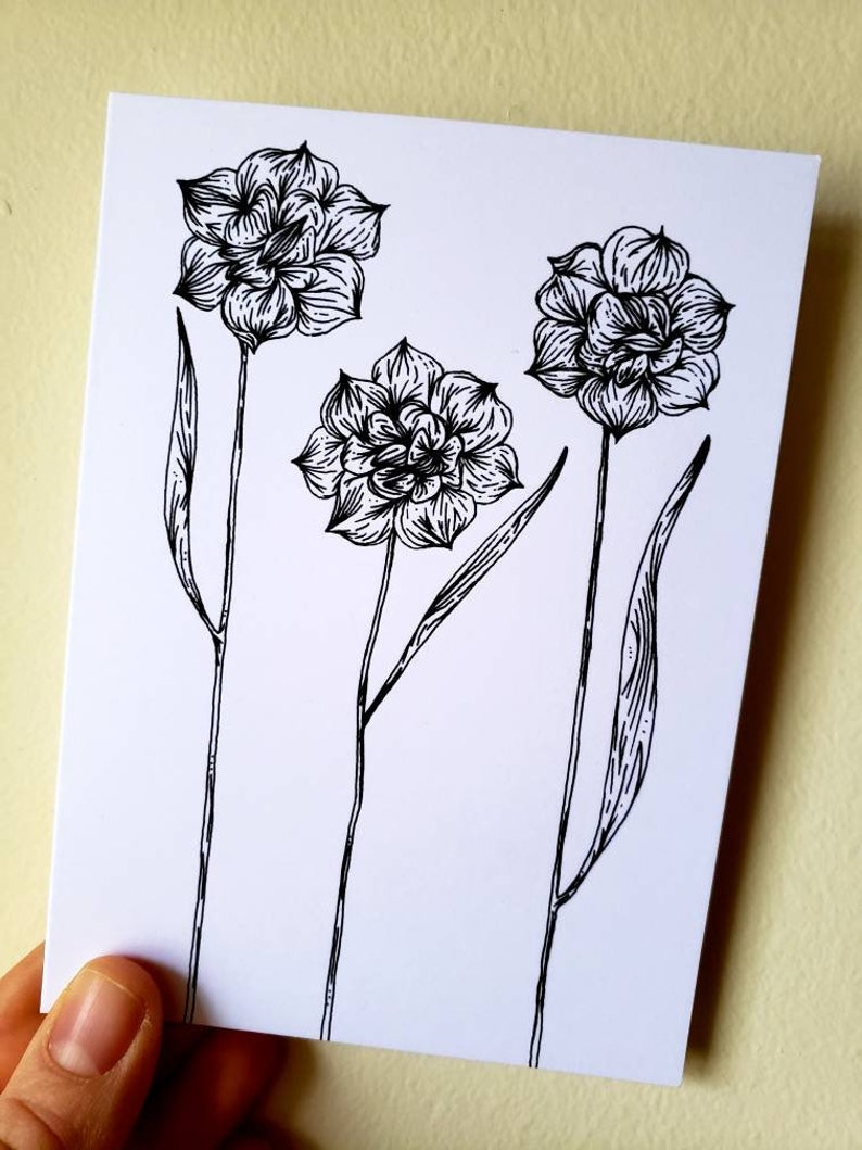 Instant Download hand drawn micron pen floral wreaths