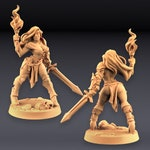 Fighter's Beauty: Elena | 28mm+ Epic Scale Fantasy Miniature | Warhammer or D&D  | Artisan Guild | Pinup