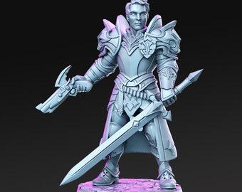 Sir Kris - Gunslinger Knight   32mm+ Fantasy Miniature   Warhammer or D&D   RN Estudio