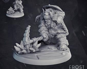 Groznek Goldmace Goliath   28mm Fantasy Miniature   Warhammer or D&D    Cast N Play Frost Lands
