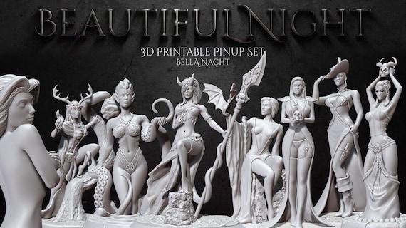 Radella Explicit NSFW Female Pin Up Pinup Bella Nacht Miniatures D/&D RPG 3D135