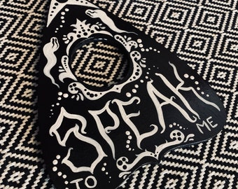 Speak to Me - Hand-Painted Wood Planchette Painting - One of a Kind