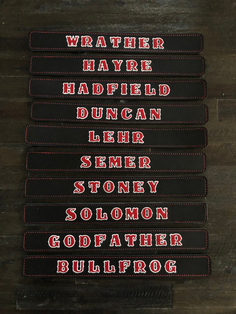 Locker Name Plates
