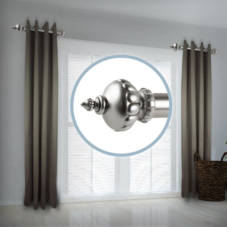 Side Curtain Rod 12-20 inch long Set of 2 Noble 1.5 dia