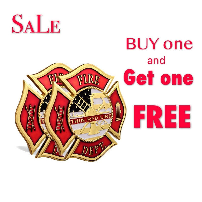 Firefighter A Thin Red Line Fireman Hero Car Stickers Fireman Collectible  Gifts
