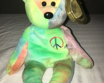 Peace Ty Beanie Baby  ultra rare with tag error  a78274615b