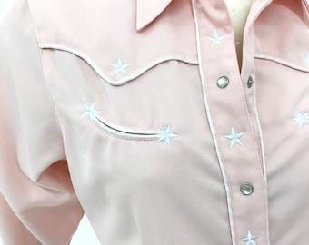 1c96d5ad Vintage pink Roper western shirt (S/M)