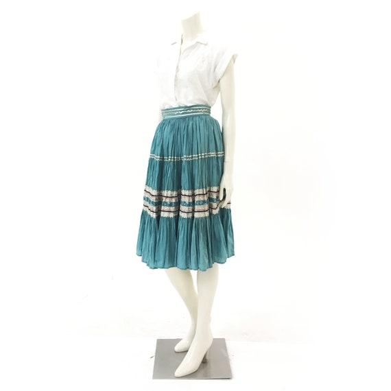 Patio fiesta skirt vintage blue  (Small)