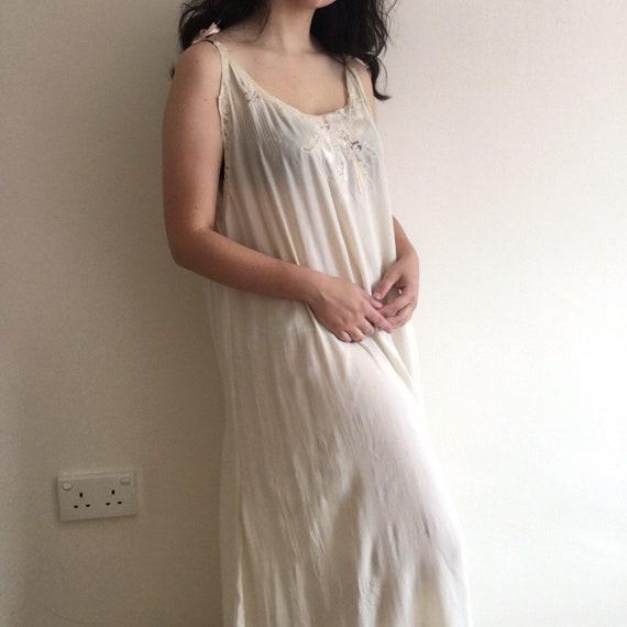 Vintage 1930s silk night gown