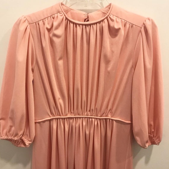 Vintage 70s Peach Dream Dress Gown