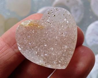 Champion Druzy Jewelry Supply Druzy Stone Pink Druzy Heart Shape Cabochon DIY Jewelry Loose Gemstones Valentines Gift